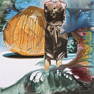 Geschüttet, ungerührt, Öl auf Leinwand | Oil on Canvas, 145 x 145 cm, 2007