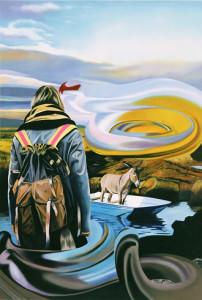 Mann im Boot, Öl auf Leinwand | Oil on Canvas, 140 x 100 cm, 2007