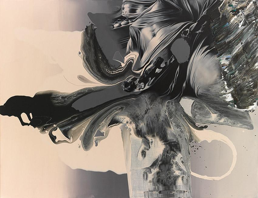 50 shades, 2018, Öl und Mischtechnik auf Leinwand, 130 x 170 cm